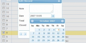 Datepicker control is auto integrated for date fields