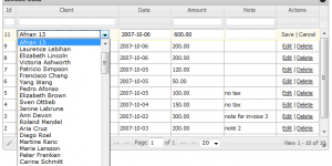 Database driven dropdown allow you to load data from any lookup table and show in grid