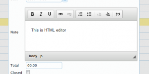 HTML / Wysiwyg editor is also supported rich text addition and editing