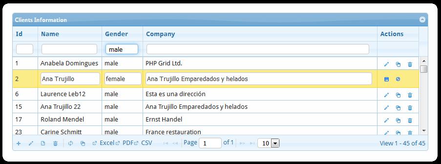 PHP DataGrid